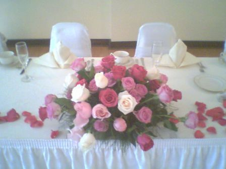 Head Table. Head Table Arrangement: $70.00 - size, color, requirements